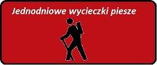 Tablica do linków czerwona jednodniowe wycieczki piesze