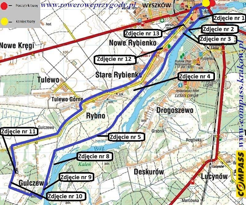 Wycieczka _16 Puszcza Biała MAPA
