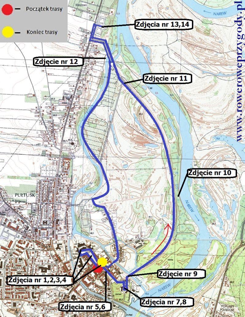 Mapa Wycieczka nr 33
