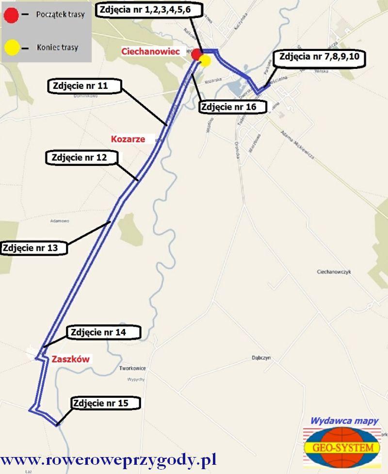 Mapa wycieczki nr 34 GEOSYSTEM kompletna